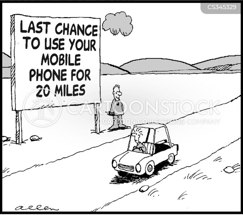 mobile reception cartoon