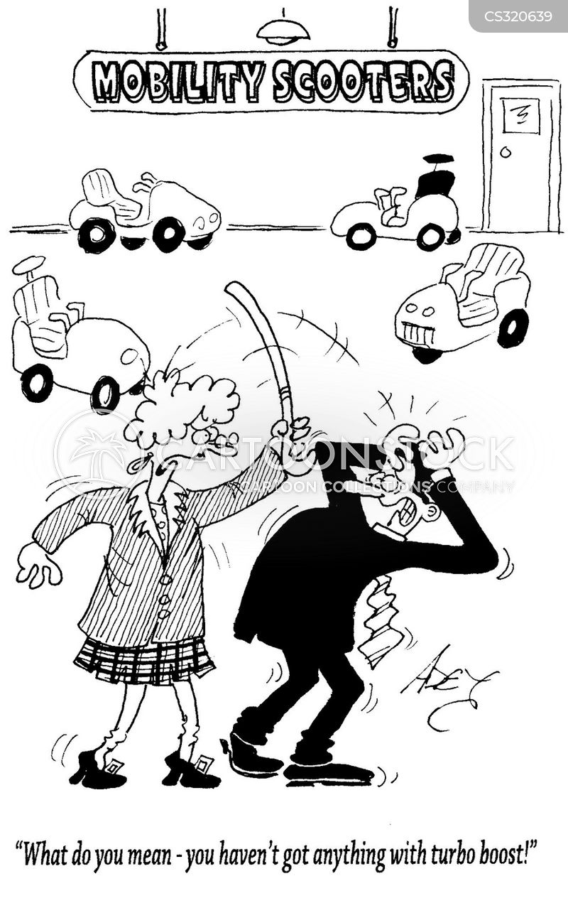 Mobility Scooters Cartoons And Comics Funny Pictures