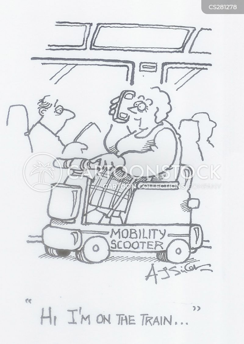mobility scooters cartoon