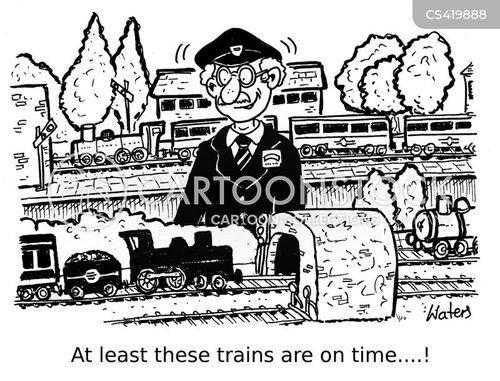 model railway cartoon