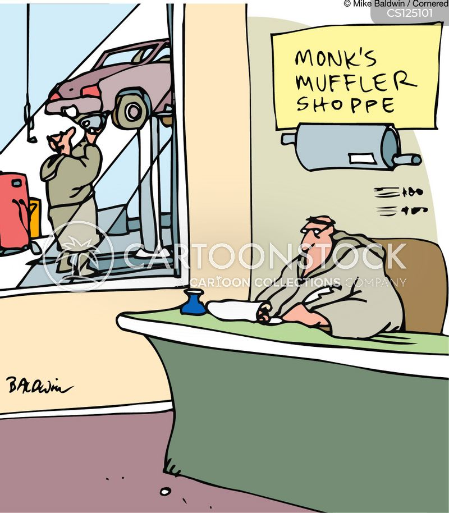 muffler cartoon