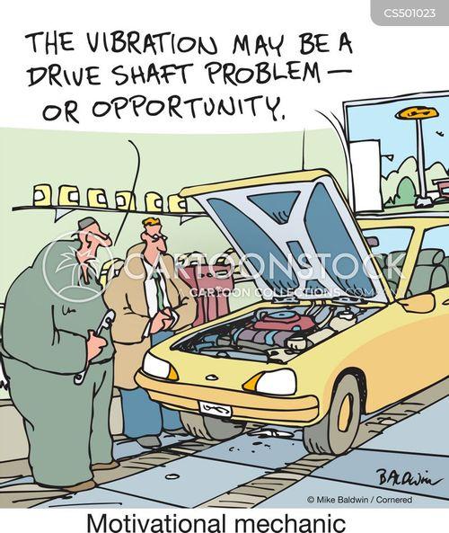 service center cartoon