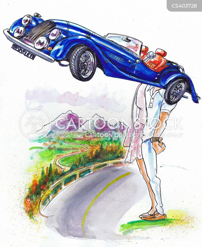 motor cars cartoon