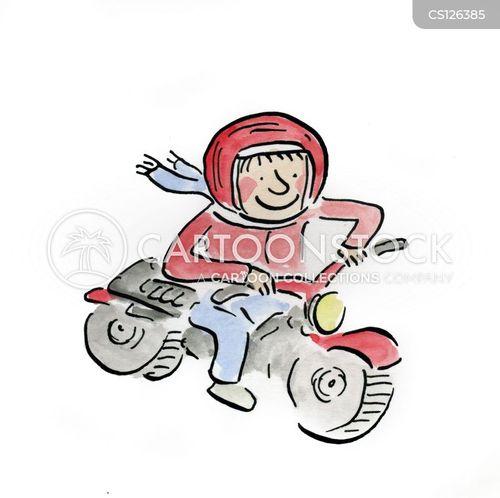 motorbike gang cartoon