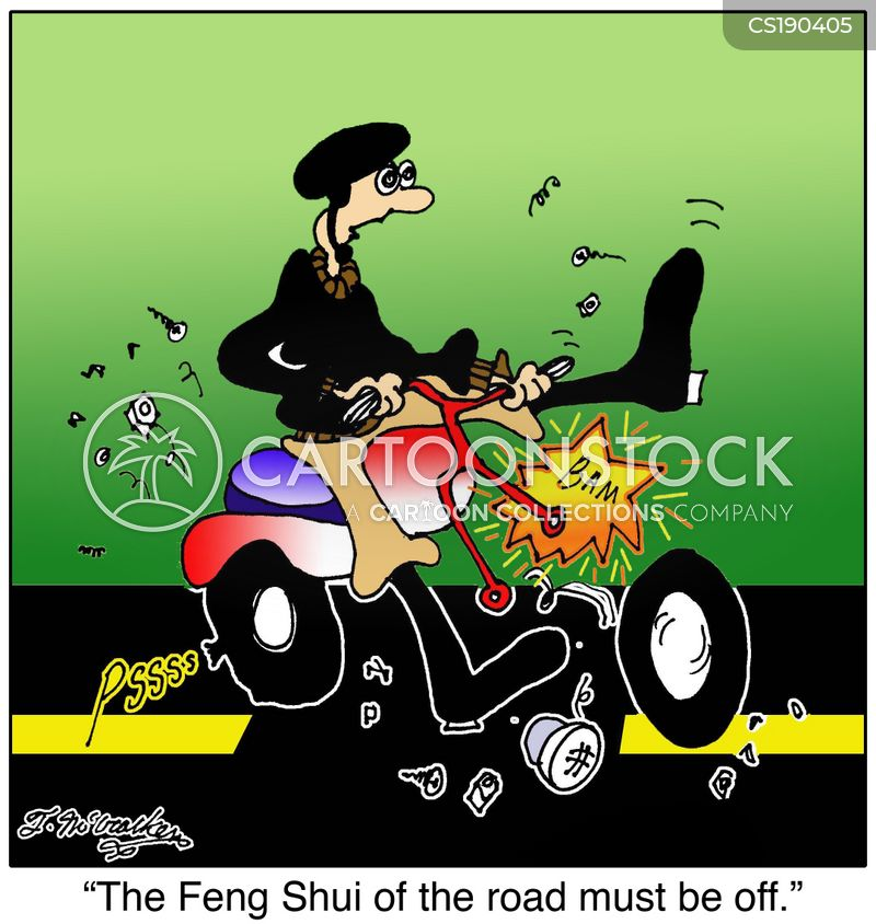 riding motorbikes cartoon