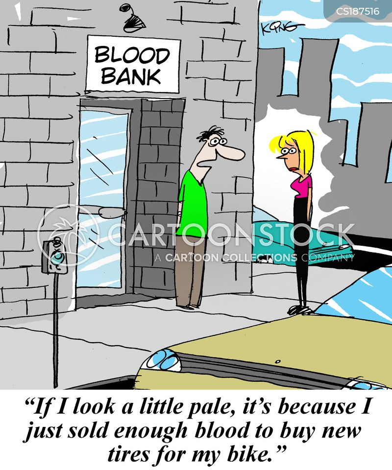 donating blood cartoon