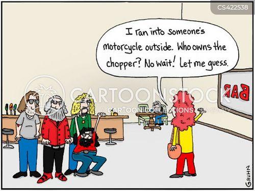 motorcyclist cartoon