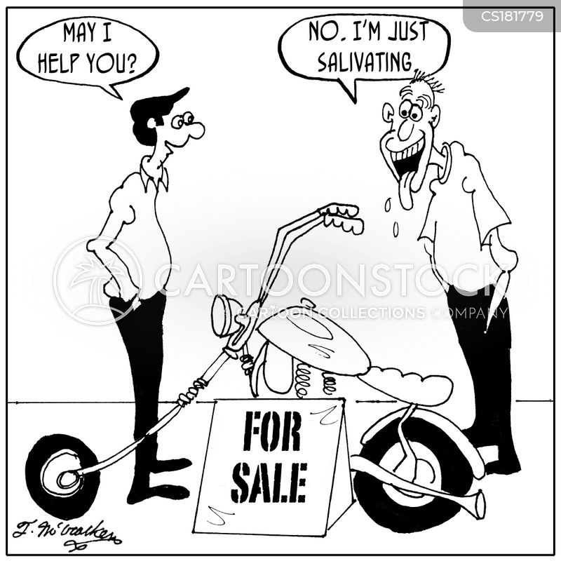 motorcycle comic pictures  Motorcycle Store Cartoons and Comics - funny pictures from CartoonStock