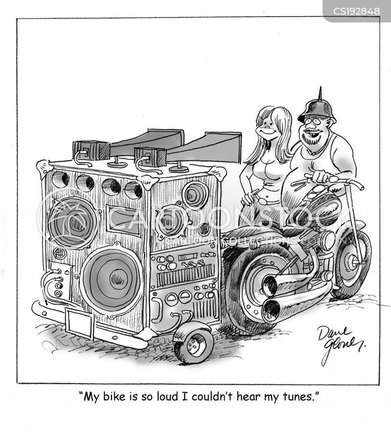 loud noise cartoon