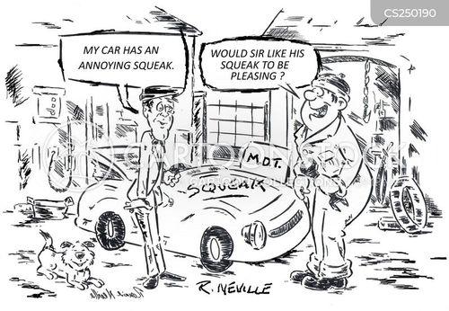 engine troubles cartoon