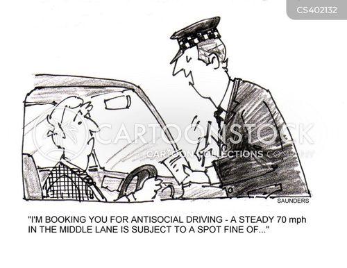 careless driving cartoon