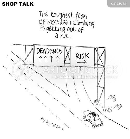 risk taker cartoon