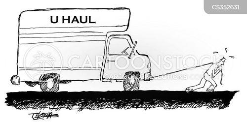 removal vans cartoon
