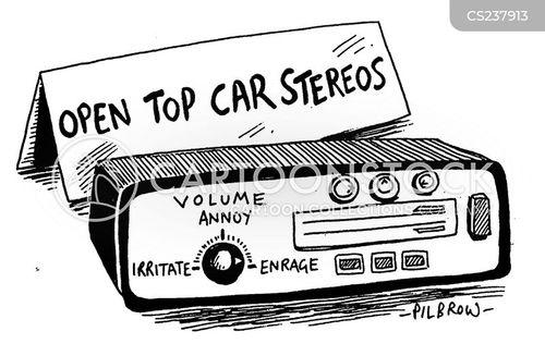 car stereo cartoon