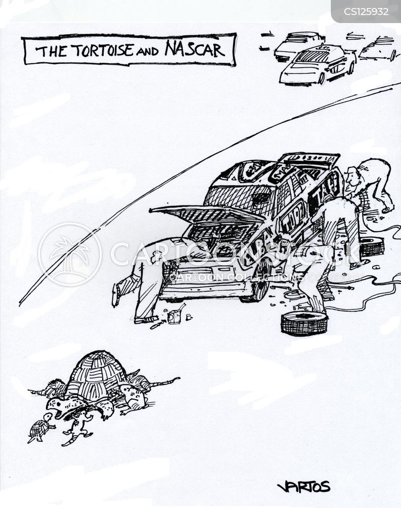 car races cartoon