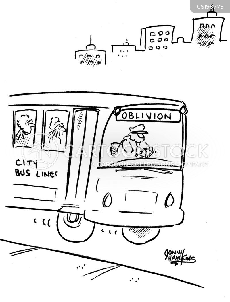 City Bus Cartoon 1 Of 2