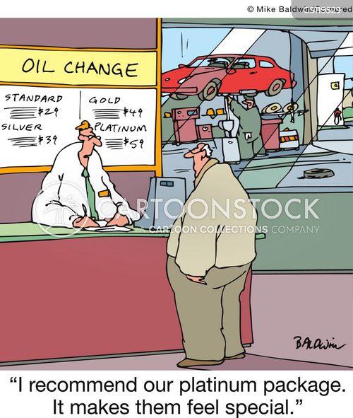 oil changes cartoon