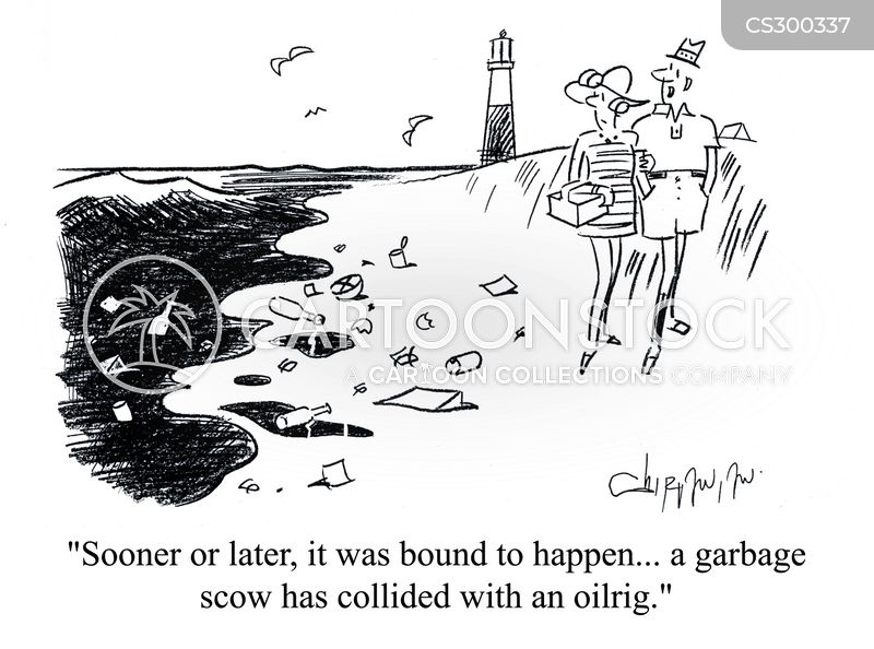 garbage scow cartoon