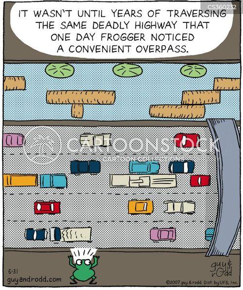 traffic collisions cartoon