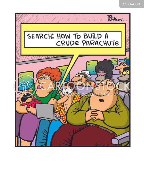parachuters cartoon
