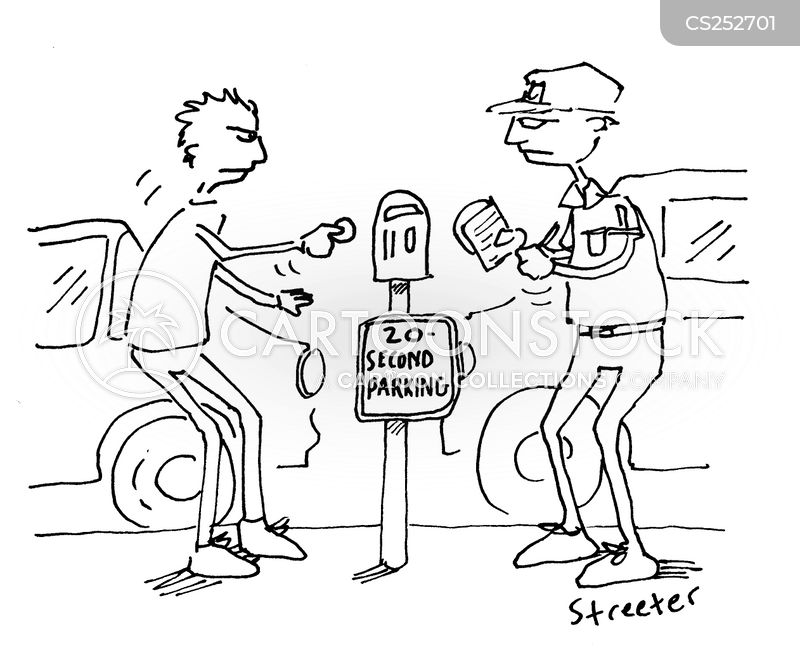 parking fine cartoon
