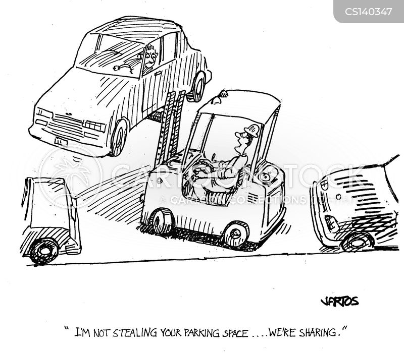 forklift truck cartoon
