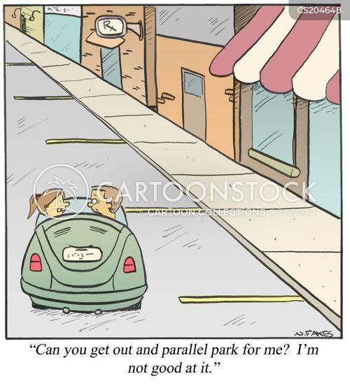 parallel park cartoon