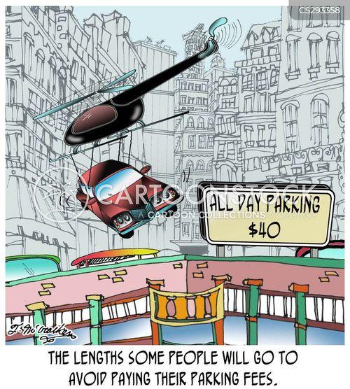 parking fine cartoon