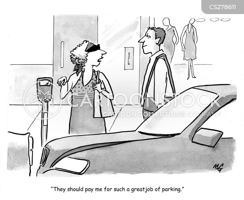 city parking cartoon