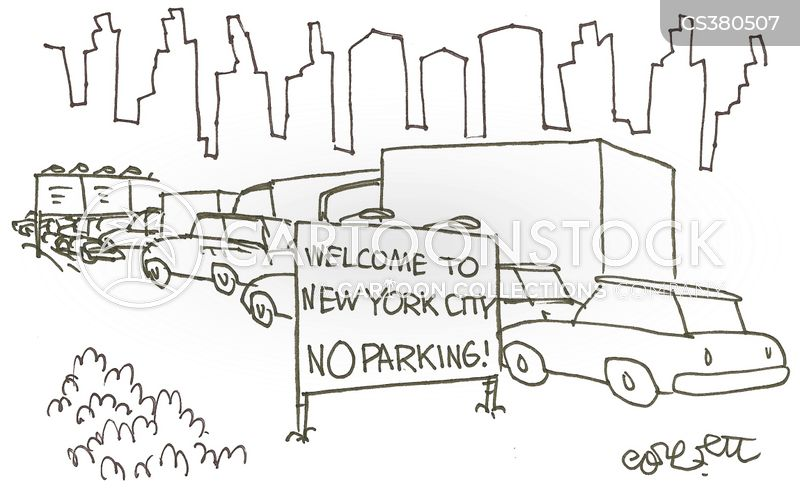 parking difficulties cartoon