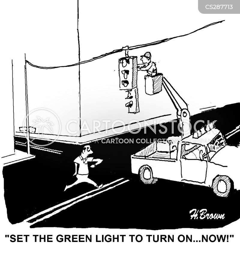green light cartoon