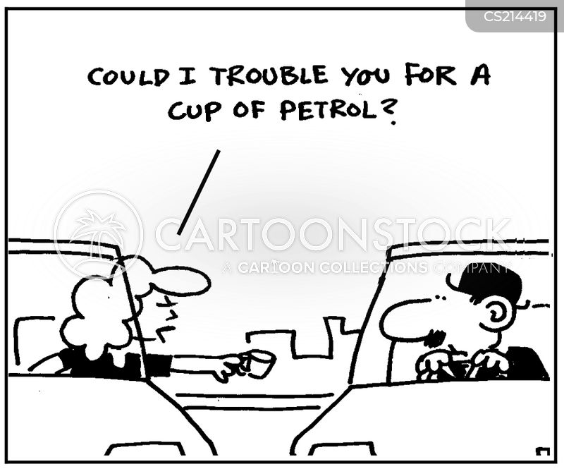 out of gas cartoon