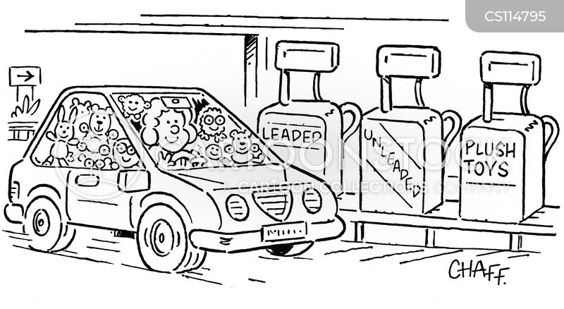 filling up cartoon