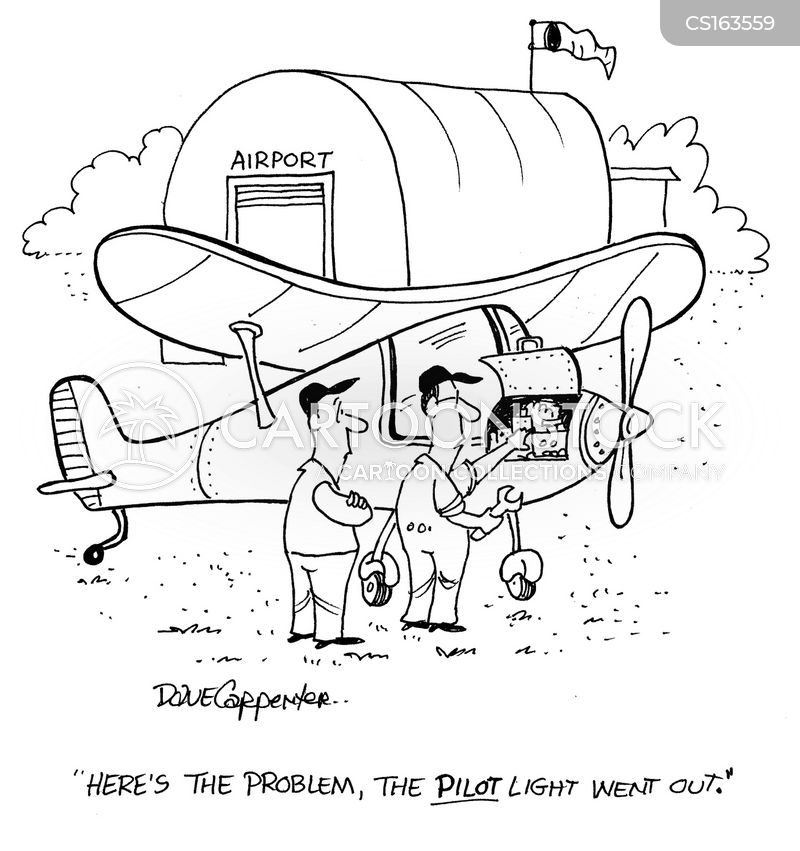 pilot light cartoon