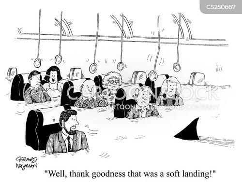 soft landing cartoon