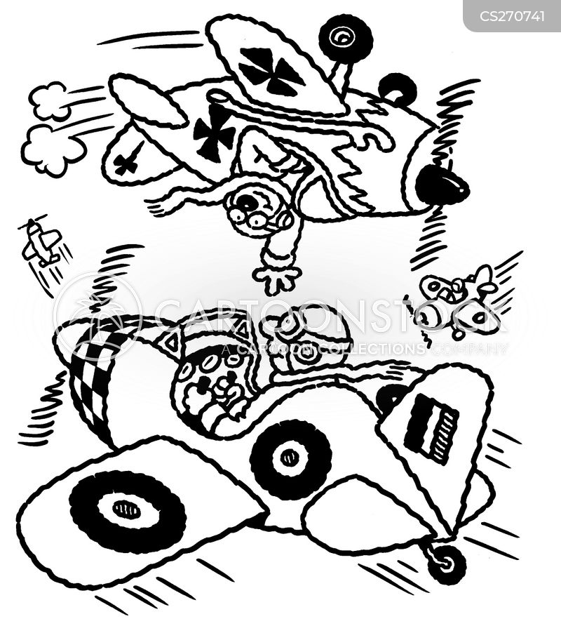 stunt pilot cartoon