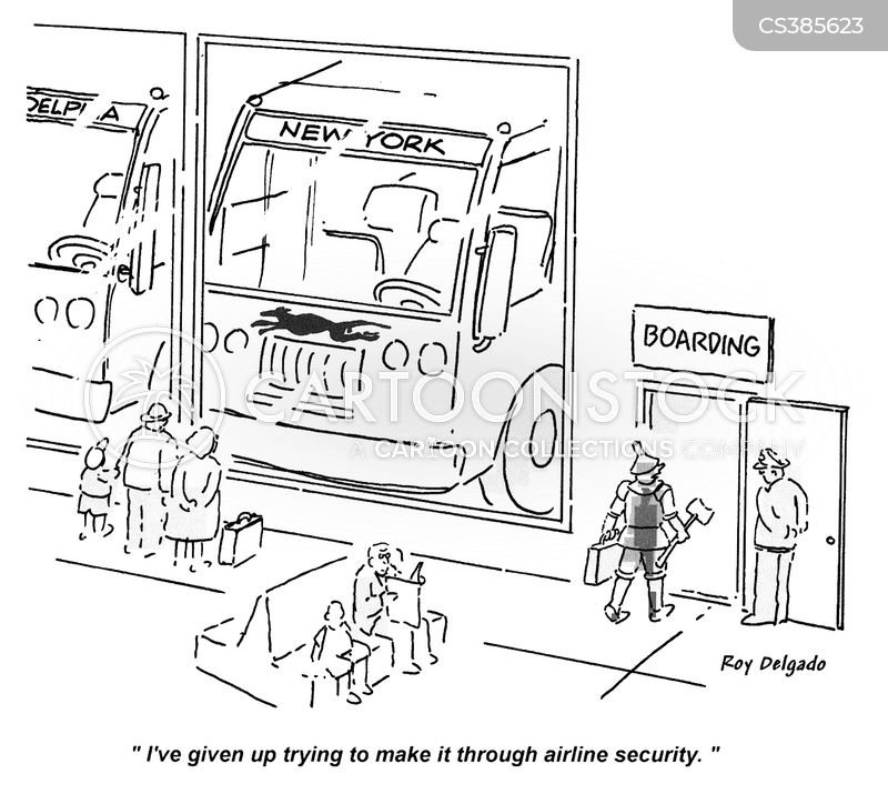 bus stations cartoon