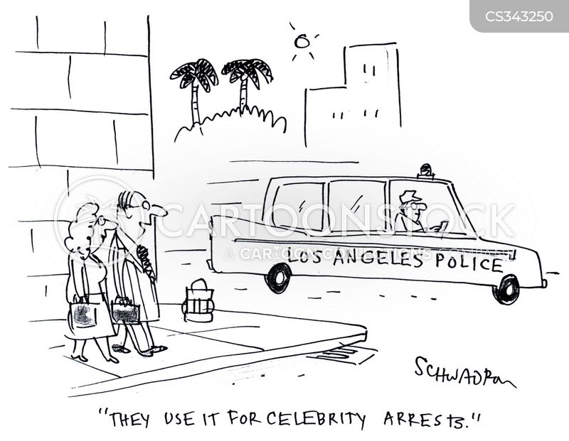 celebrity arrests cartoon