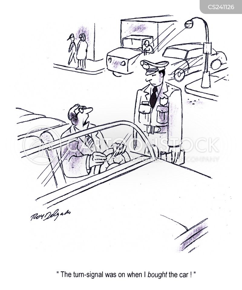 turn signals cartoon