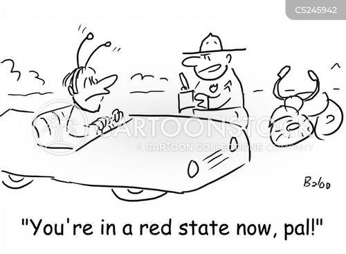 driving fines cartoon