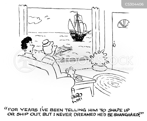 ships crew cartoon