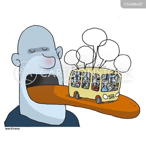 bus routes cartoon