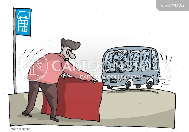 bus ticket cartoon