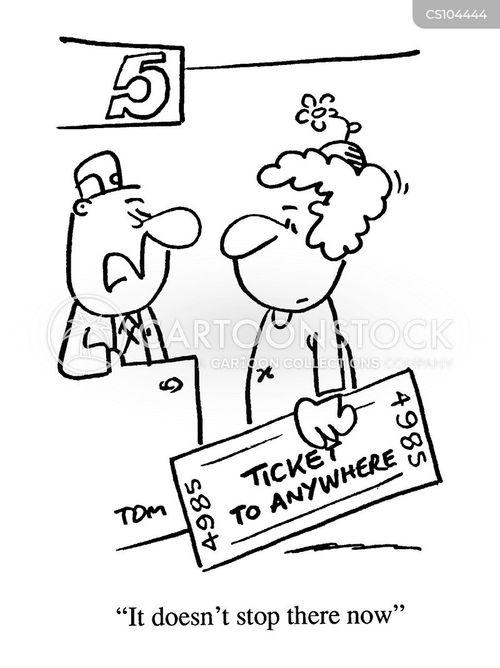 train tickets cartoon