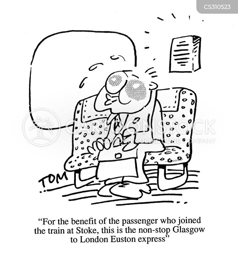 express trains cartoon