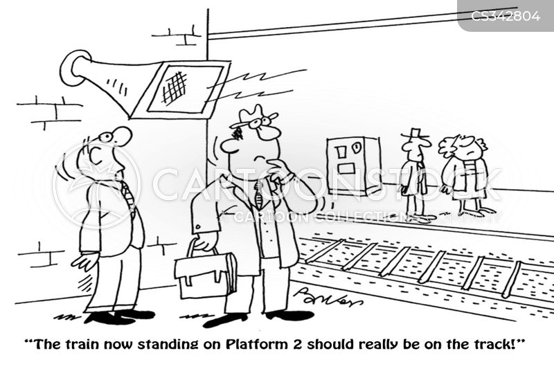 train announcements cartoon