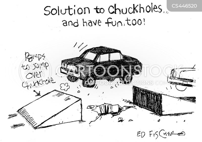 car stunt cartoon