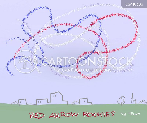 aerobatic cartoon