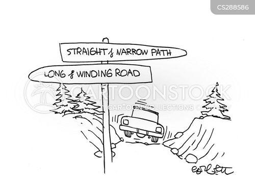 straight and narrow cartoon