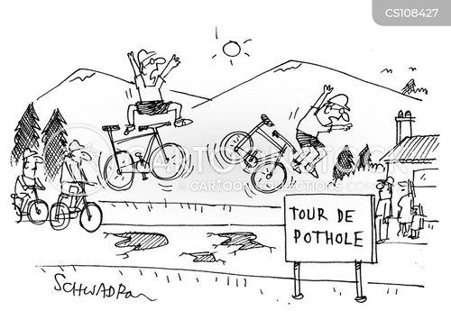 potholes cartoon